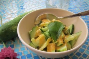 Farm to Fork: Cucumber Curry Salad