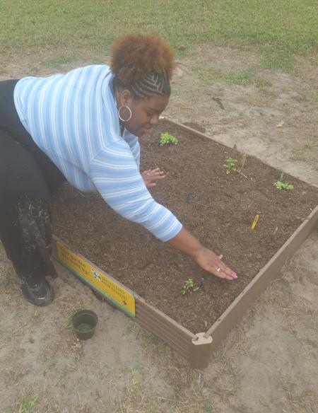 Alecia Building a Vegetable Garden