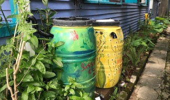 What should you do with your rain barrel during a hurricane?
