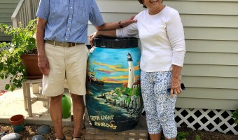 A Rain Barrel Installation with an Incredible Story